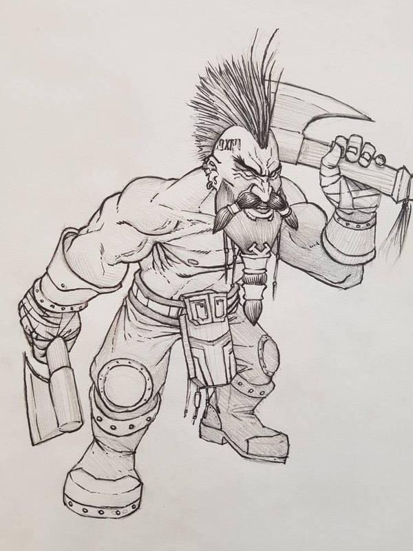 dwarf berserker by ab7772