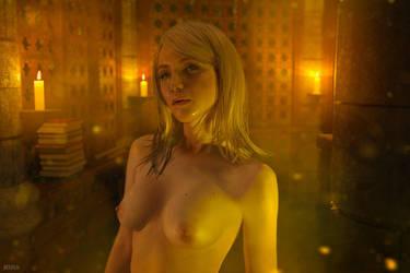 Keira Metz nude. Witcher 3. (9 frame) by Lyumos