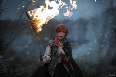 The Witcher 3 Shani cosplay (frame 2) by Lyumos