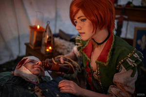 The Witcher 3 Shani cosplay (frame 16) by Lyumos