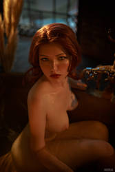 Triss Merigild Witcher (4) by Lyumos
