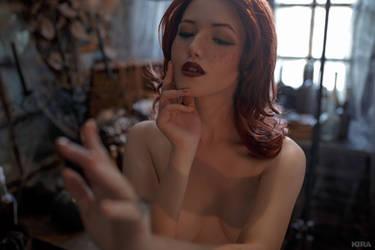 Triss Merigild Witcher (15) by Lyumos