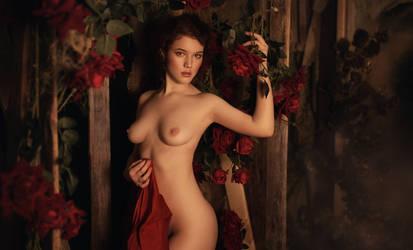 Redrose naked by Lyumos