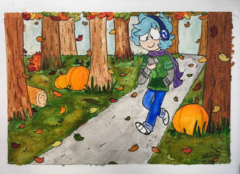 Autumnal Stroll by mellowforests