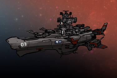 Downfall - Vesitanian battleark sketch by TheDrowningEarth