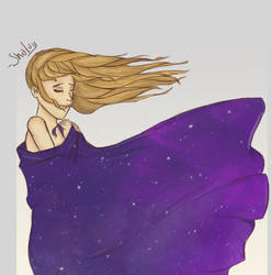 Can you feel the stars on your skin? by Shalvydraws