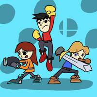 Super Smash Bros 031-Mii Fighters by Guuguuguu