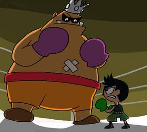 Punch Out!!! - Little Mac vs King-Hippo by Guuguuguu
