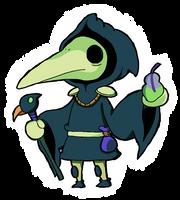 Shovel Knight - Plague Knight by Guuguuguu