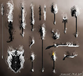 Daynight Weapons Set - Guild Wars 2 Fan Art by SkavenZverov