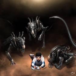 H.R. Giger Tribute - Alien and Me by SkavenZverov