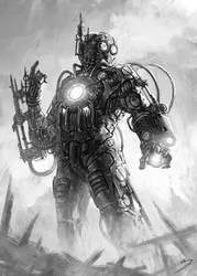 Steampunk IronMan by SkavenZverov