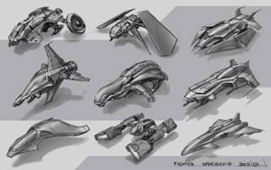 20 Minutes Spaceship Design Practice by SkavenZverov
