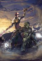 Guild Wars 2 Art - Team Friendship by SkavenZverov