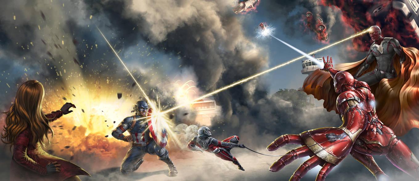 Avengers Civil War Fan Art by SkavenZverov