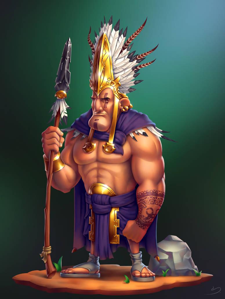 Aztec Warrior - Final by SkavenZverov