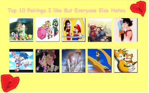 Top 10 Pairings I like But Everyone Else Hates by MarioLuigi25