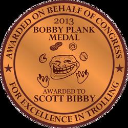 The Bobby Plank Medal (2013) by Agahnim