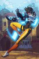 Tracer Overwatch Fanart by NicoFari