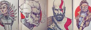 Some traditional sketches by NicoFari