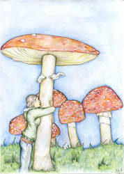 in love with mushroom by aiculedssul