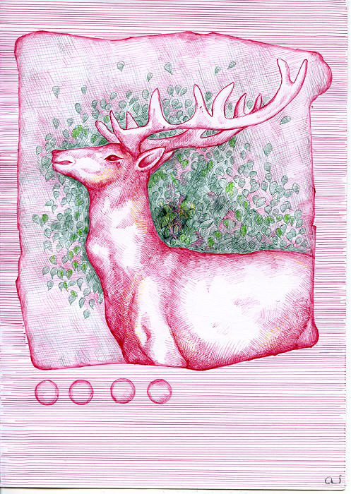 birthday deer for Masha by aiculedssul