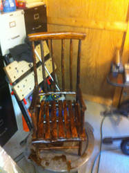 Cedar High Back Chair for my new son by ragesevenqb
