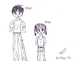 Mikai and Miho by KireiBlossom by NewTrials