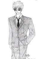 Syaoran in a Suit, by Atlantis Forester by NewTrials
