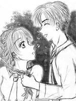 Syaoran teasing Sakura, by Wishluv by NewTrials