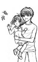 Young Touya and Sakura, by Wishluv by NewTrials