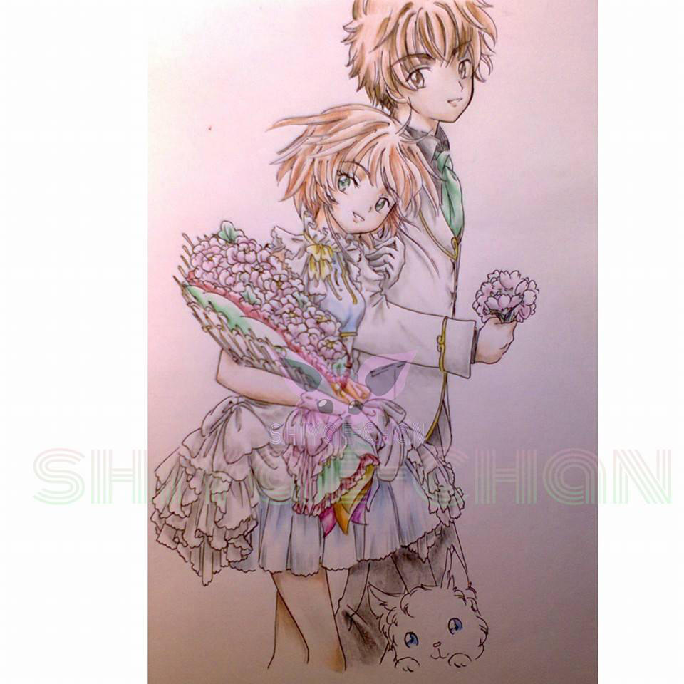 Sakura and Syaoran, by shiyaechan by NewTrials