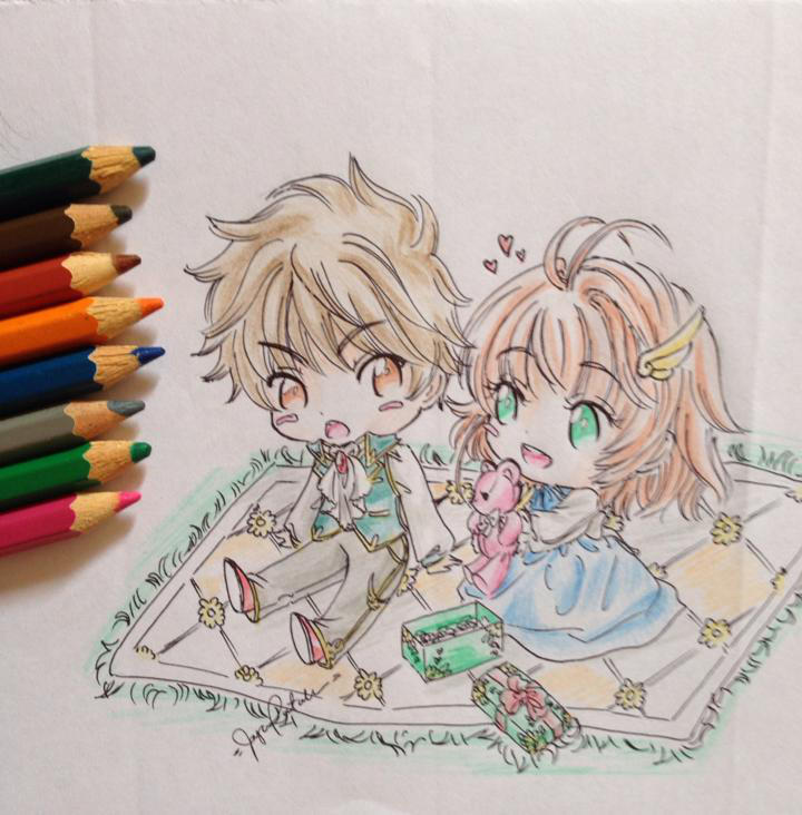 Sakura and Syaoran's Picnic by shiyaechan by NewTrials