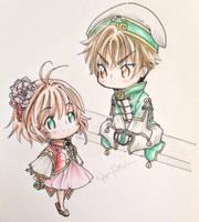 Chibi Sakura and Syaoran by Shiyaechan by NewTrials