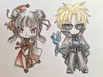 Chibi Kai and Meilin by Shiyaechan by NewTrials