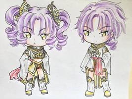 Chibi Eron and Erika by Shiyaechan by NewTrials