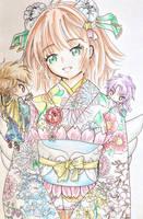 Sakura in a Yukata by Shiyaechan by NewTrials