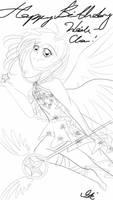 Flying Sakura by dreamystarskye by NewTrials