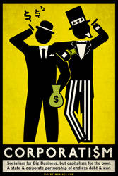 Corporatism Poster by Libertymaniacs