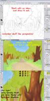 Woods path BG Tutorial -tree by FlyingGekko774