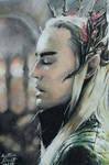 Thranduil- Hobbit-Trilogy- Drawing by Atompilz94