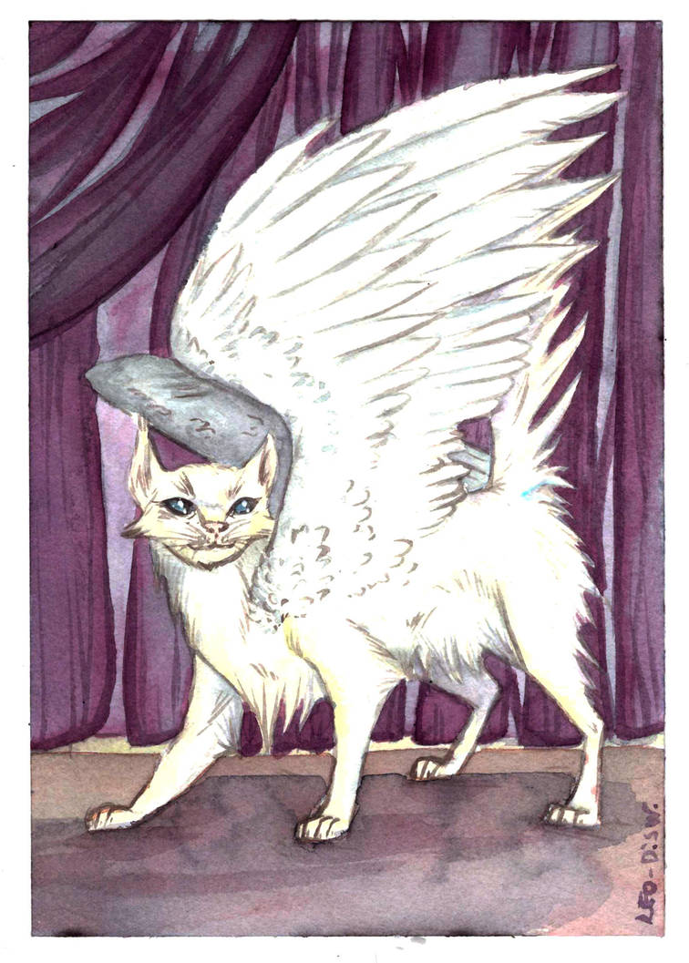 Withe Winged Cat - AcquaChallenge by LeoDragonsWorks