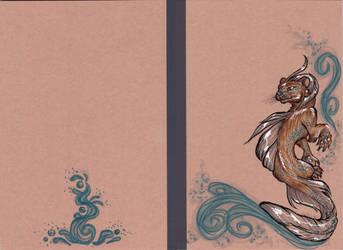 Water spirit - Decorated Copybook by LeoDragonsWorks