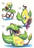 Bellsprout Evolution - 1st gen by LeoDragonsWorks