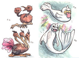 Doduo and Seal - 1st gen by LeoDragonsWorks
