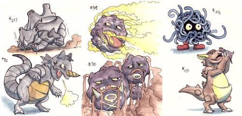 More pokemon - 1st gen by LeoDragonsWorks