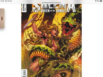 Sheena fighting a huge snake by megasonicmanlover