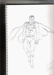 Superman Sketch by Leon-Evelake