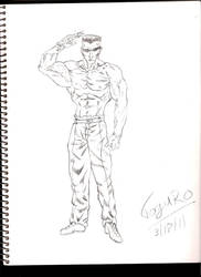 Toguro sketch by Leon-Evelake