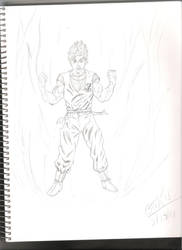 Goku sketch by Leon-Evelake